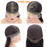 13x6 T part lace wig cap construction