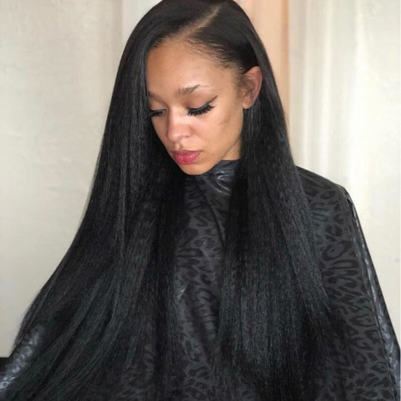 13X6  Lace Front Wig Kinky Straight