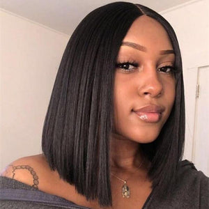 360 Lace Frontal Bob Wig Silky Straight