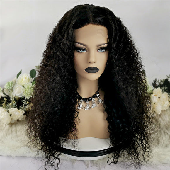 4x4 Silk Base Lace Closure Wig Water Wave