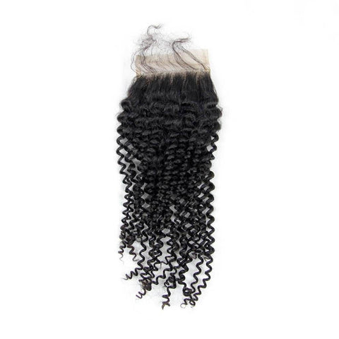 Brazilian Hair  Kinky curly  3 Bundles +Closure