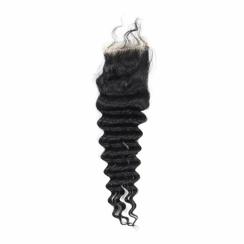 Brazilian Hair  Deep wave 3 Bundles +Closure