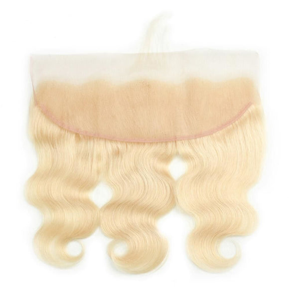 13x4 Lace Frontal Blonde color #613  Body Wave