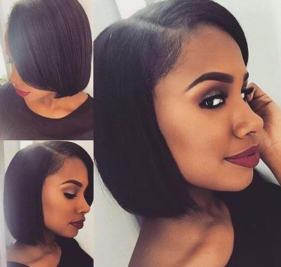 Bob Wig Full Lace Wig Silky Straight