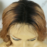 Pre Plucked 13x6 T Part Lace Front Wig Omber Loose Wave With Baby Hair