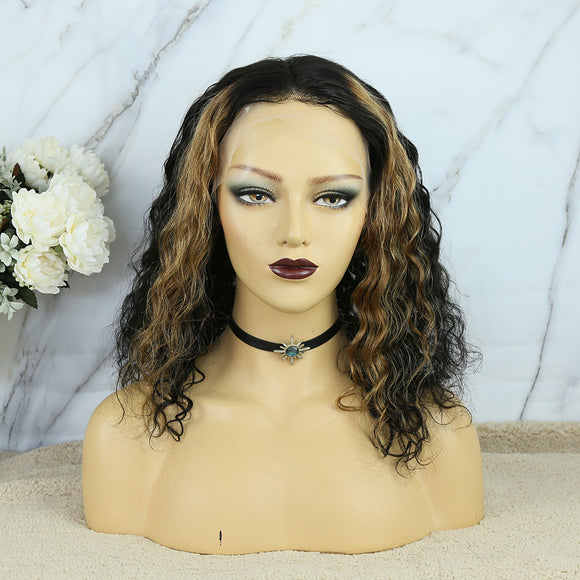 13x6 Transparent Lace Front Wig Highlight Loose Wave