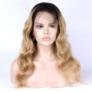 Ombre Color T1B/27 Wig 13x4  Lace Front Wig Body Wave