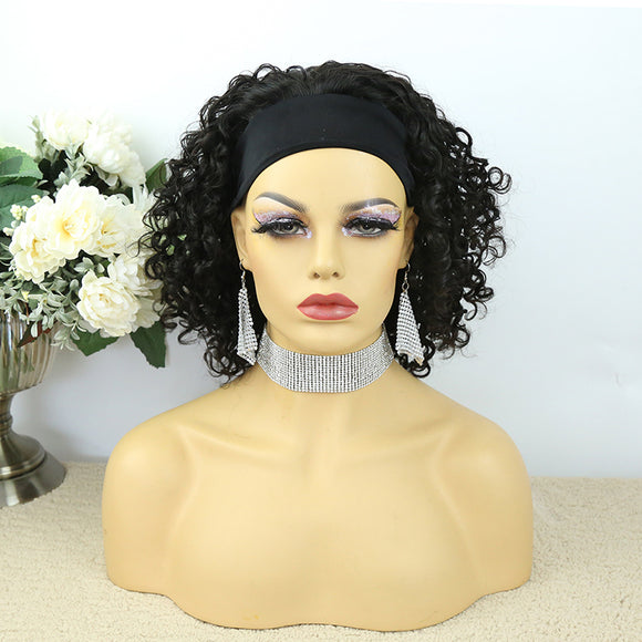 Lazy Girl Headband Wig Brazilian Hair Deep Curly