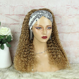Lazy Girl Headband Wig Brazilian Hair #27 or T1B/27 Honey Blonde Deep Wave
