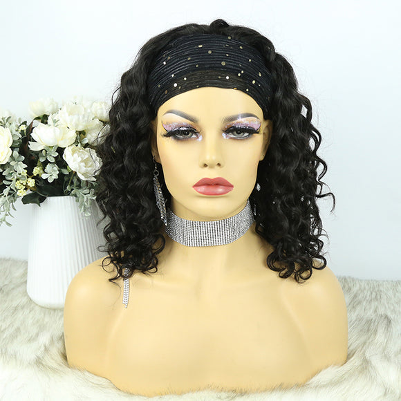Lazy Girl Headband Wig Brazilian Hair Loose Wave