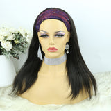Lazy Girl Headband Wig Brazilian Hair Silky Straight