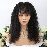 Deep Curly With Bangs 13X4 Lace Front Wig(pre-order 15-20 days)