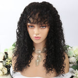Deep Curly With Bangs 13X4  Lace Front Wig
