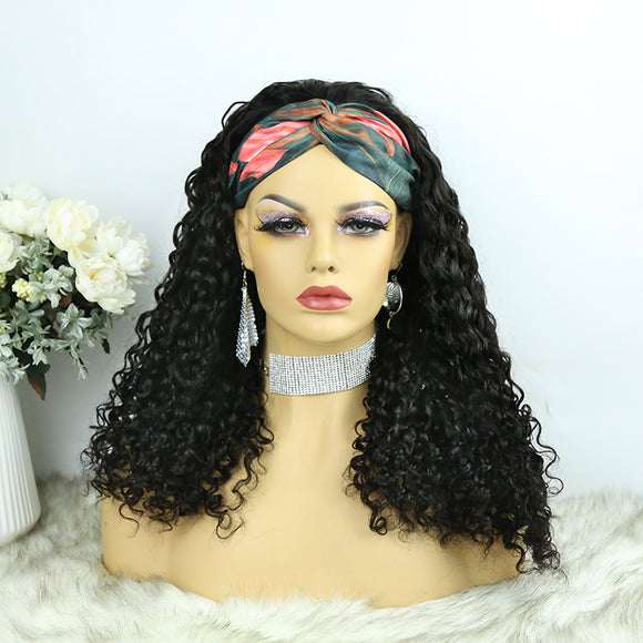 Lazy Girl Headband Wig Brazilian Hair Water Wave