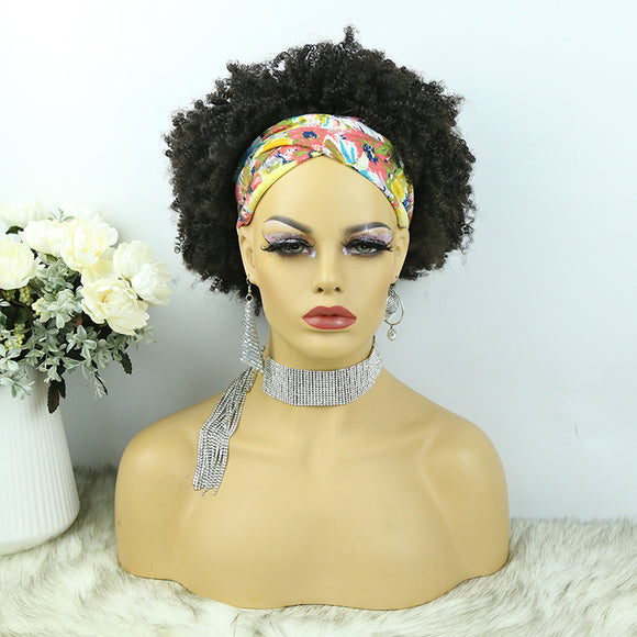 Lazy Girl Headband Wig Brazilian Hair Afro Kinky Curly