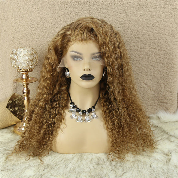 Honey  Blonde #27 Color 13x4  Lace Front Wig Deep Wave