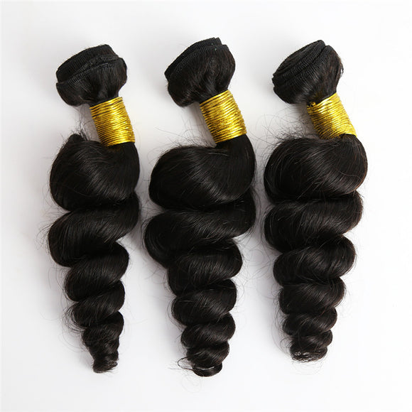 3 Bundle Loose  Wave Brazilian Hair