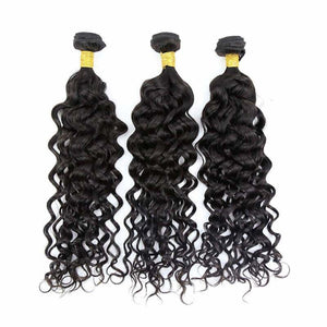 Brazilian Hair  Deep curly  3 Bundles +Closure