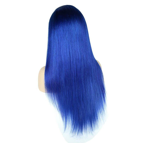 Sapphire Blue  Color Full Lace Wig Silky Straight