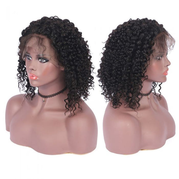 13X6 Transparent Lace Frontal Short Bob Wig Jerry Curl