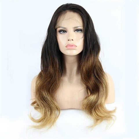 Ombre Color #1B/4/27 Color Lace Front Wig Body Wave