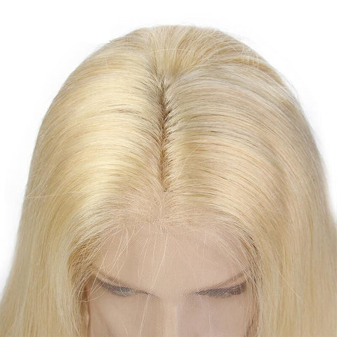 #613 Blonde Color Lace Front Wig Silky Straight