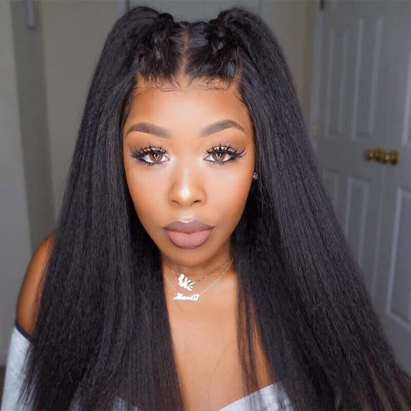 13X4 Lace Front Wig Kinky Straight