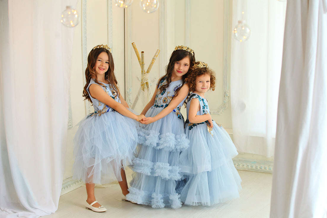 Girly blue Dresses from L'ANISÉ Fairy Tale Collection