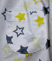children's clothes - baby clothes - baby jumpsuit - children's jumpsuit - white jumpsuit - star pattern