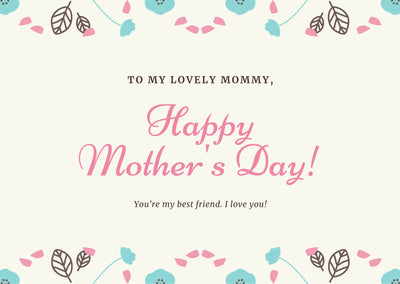 mother's day - giftcard- lanise