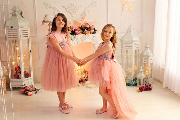 children's dress - princess dress - tulle dress - tulle skirt - children's clothes - wedding dress - pink dress