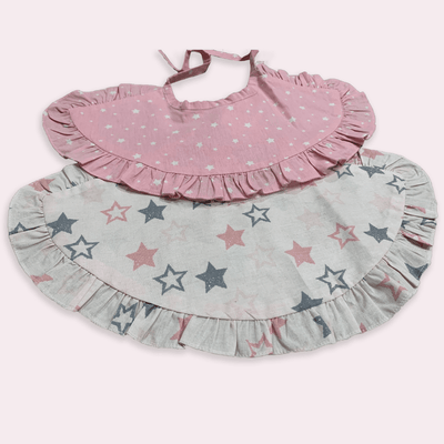 baby clothes - baby accessoires - baby bib - baby girl - baby boy - star pattern bib