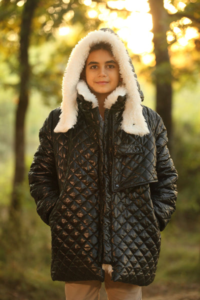 children's clothes - children's winter clothes - children's jacket - children's winter jacket - winter jacket - down jacket - black jacket