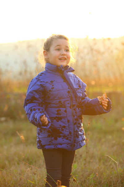 children's clothes - children's winter clothes - children's jacket - children's winter jacket - winter jacket - down jacket - blue jacket - floral jacket