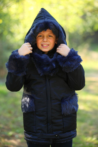 children's clothes - children's winter clothes - children's jacket - children's winter jacket - winter jacket - down jacket - long jacket - blue jacket