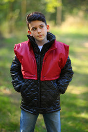 children's clothes - children's winter clothes - children's jacket - children's winter jacket - winter jacket - down jacket - black jacket - red jacket