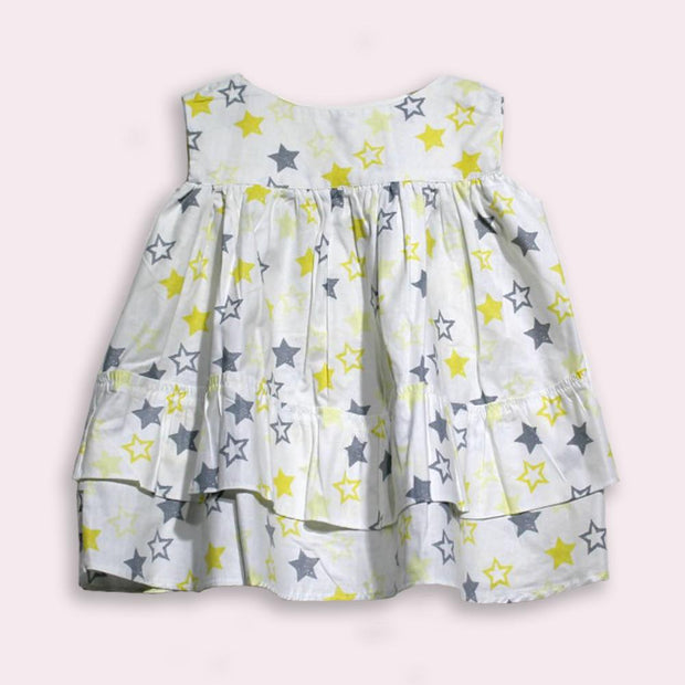 children's clothes - children's dress - summer dress - baby girl dress - baby girl clothes - star pattern