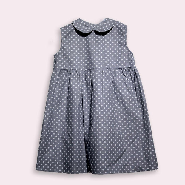 children's clothes - children's dress - summer dress - baby girl dress - baby girl clothes - dot pattern
