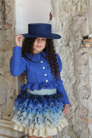 Children's accessoires - children's hat - felt hat - girl hat - blue