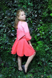 unique handmade short pink felt wool skirt for girls for fall