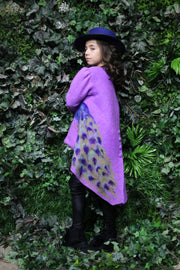children's clothes - children's coat - kids wear - winter coat - girl coat - kids fashion - purple coat