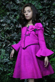 children's clothes - children's skirt - girl skirt  - girl clothes - felt skirt - purple - pink