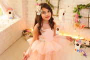 girl dress with tulle skirt and floral embellishment for special occasions