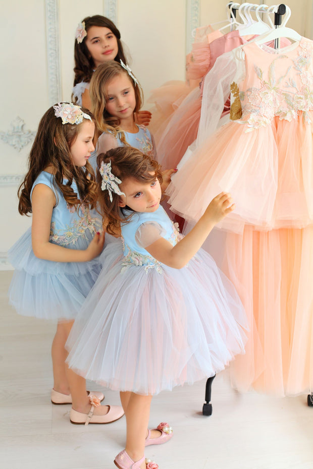 girls dress up ready for birthday party
