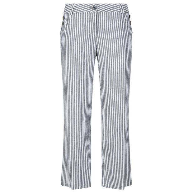 james lakeland - clothes for women - linen trousers - stripe trousers - slim fit trousers