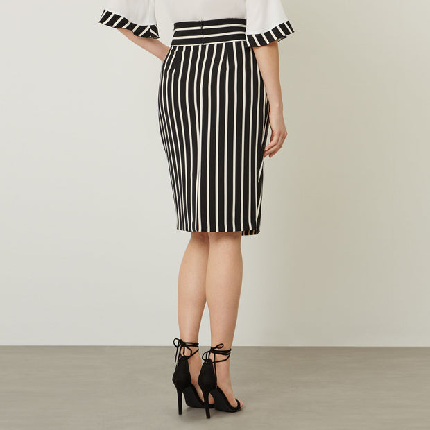 james lakeland - clothes for women - business skirt - pencil skirt - high waisted skirt - stripe skirt