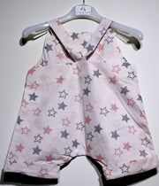 children's clothes - baby clothes - baby jumpsuit - children's jumpsuit - pink jumpsuit - star pattern