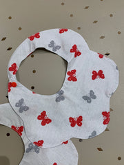 baby clothes - baby accessoires - baby bib - baby girl - baby boy - butterfly - gray bib