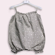 children's clothes - baby clothes - baby jumpsuit - children's jumpsuit - gray jumpsuit - star pattern