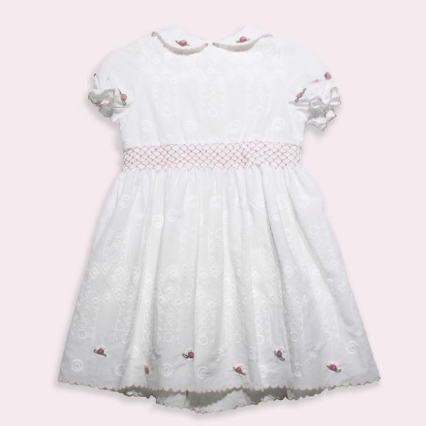 children's clothes - children's dress - summer dress - baby girl dress - baby girl clothes - white dress - white summer dress
